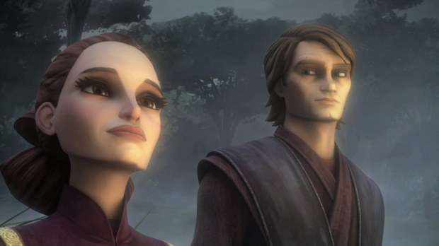 Anakin and Padme in The Clone Wars