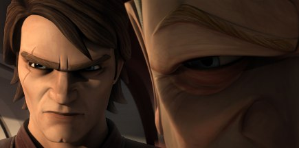 Palpatine and Anakin in The Clone Wars
