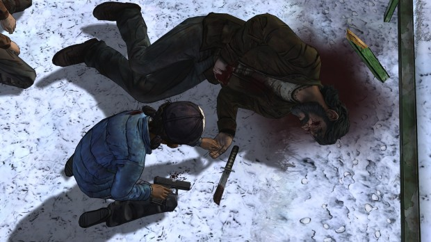 Kenny dies after being shot by Clementine