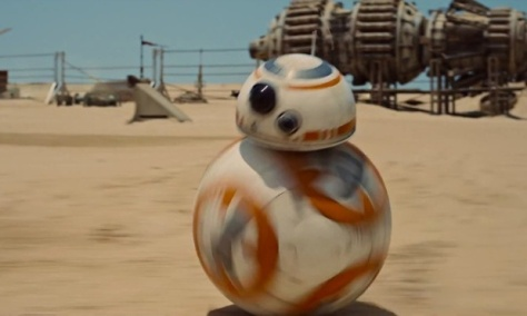 Yes, that is a Droid rolling on a soccer ball while tense, thematic music strums in the background. And this isn't a joke.