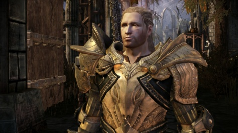 And quite honestly, what kind of a self-important douche goes to battle in gold armor? King Cailan had it coming.