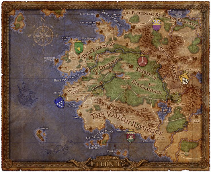 This is but a tiny fraction of the world map of Pillars of Eternity. And somewhere out there is a story that will absolutely blow my mind.