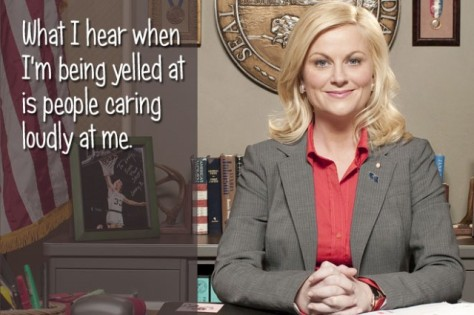 Someone remind me to do a review of Parks and Recreation, because that's an amazing show.