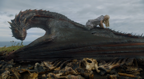 Drogon's mother: literally riding his ass.
